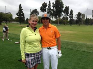 FWGA Member photo with Rickie Fowler